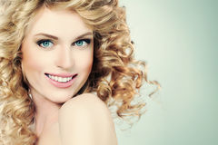 Beauty Portrait of Happy Girl Stock Images
