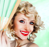Beauty portrait of happy woman Stock Image
