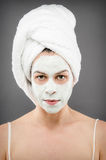 Beauty Portrait. Image of a female wearing a beauty mask Stock Photography