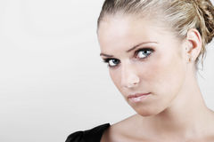 Beauty portrait of an intense Royalty Free Stock Images