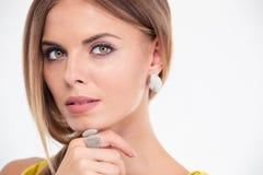 Beauty portrait of a lovely fashion model Stock Photo