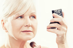 Beauty portrait of mature woman. Stock Photography