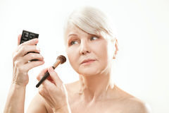 Beauty portrait of mature woman. Stock Photos
