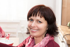 Beauty Portrait of middle age woman Royalty Free Stock Photos