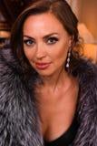 Beauty portrait of Miss Russian Universe 2015 contest winner Yulia Krutova Stock Photos