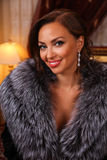 Beauty portrait of Miss Russian Universe 2015 contest winner Yulia Krutova Royalty Free Stock Photos