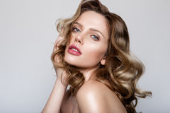 Beauty portrait of model with natural make-up Royalty Free Stock Images