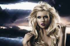 Beauty Portrait Of Blonde Girl Royalty Free Stock Images