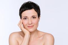 Beauty Portrait Of Mature Woman Stock Images