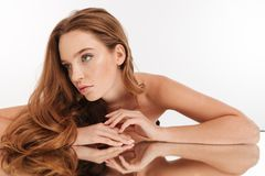 Free Beauty Portrait Of Mystery Ginger Woman With Long Hair Royalty Free Stock Images - 111038089