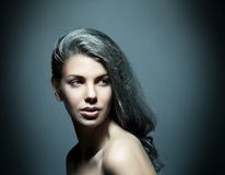 Beauty Portrait Of Young Attractive Woman Royalty Free Stock Photography