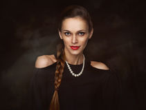 Beauty portrait of pretty woman Royalty Free Stock Photography