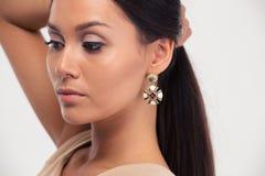 Beauty portrait of a pretty woman Stock Image