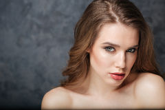 Beauty portrait of sensual attractive young woman Stock Image