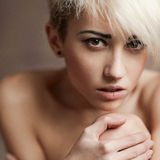 Beauty portrait of sensual girl Stock Photography