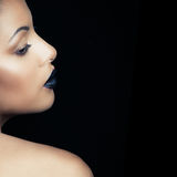 Beauty portrait of a sensual glamorous young African woman studi Stock Photo
