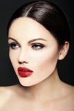 Beauty portrait of sensual model with colorful makeup Stock Photography