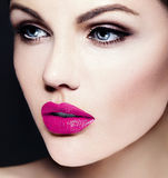 Beauty portrait of sensual model with makeup Stock Photos