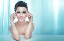 Beauty portrait of sensual pretty lady. Royalty Free Stock Photo