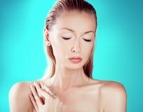 Beauty portrait of sensual woman. Royalty Free Stock Image
