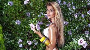 Beauty portrait of sensual woman. Royalty Free Stock Photo