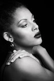 Beauty portrait of a sensual young African woman Royalty Free Stock Photo