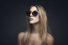 Beauty portrait of sexy blonde woman Royalty Free Stock Images