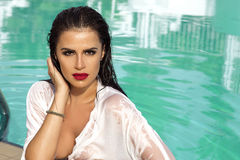 Beauty portrait of woman royalty free stock photo