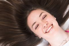 Beauty Portrait - Smiling Stock Photo