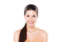 Beauty portrait of smiling model with perfect skin Royalty Free Stock Photography