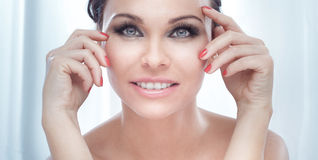 Beauty portrait of smiling pretty lady. Royalty Free Stock Image