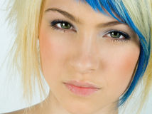 Beauty portrait of teen girl. With interesting hair Royalty Free Stock Image