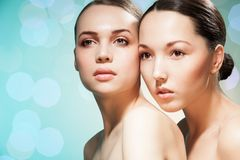 Double beauty Royalty Free Stock Photo
