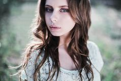 Beauty portrait of a very pretty young girl. Stock Images