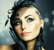 Beauty Portrait.Vintage Styled Stock Photos