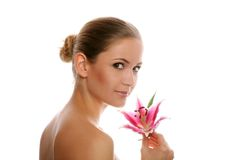 Beauty portrait of a woman Royalty Free Stock Images