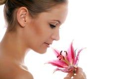 Beauty portrait of a woman stock image