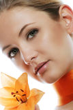 Beauty portrait of a woman Royalty Free Stock Photography
