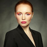 Beauty portrait of woman with beautiful makeup Royalty Free Stock Image