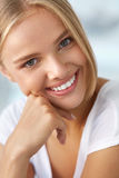 Beauty Portrait Of Woman With Beautiful Smile Fresh Face Smiling Stock Images