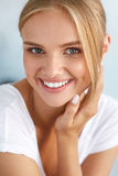 Beauty Portrait Of Woman With Beautiful Smile Fresh Face Smiling Stock Image