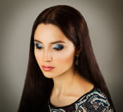 Beauty Portrait of Woman with Fashionable Makeup Stock Image