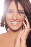 Beauty portrait of woman with nice smile Stock Photo