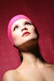 Beauty portrait of a woman in pink Royalty Free Stock Photography