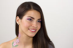 Attractive caucasian smiling woman Stock Images