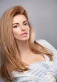 Beauty portrait woman,stylish warm knitted sweater Royalty Free Stock Photo