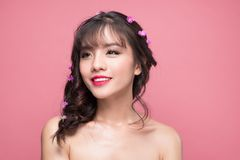 Beauty portrait of young asian woman with perfect make-up. Beaut Stock Photos