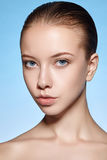 Beauty portrait of young attractive girl with clean skin Royalty Free Stock Photos