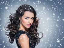 Beauty portrait of a young and attractive woman Royalty Free Stock Photos