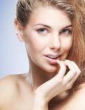 Beauty portrait of young attractive woman Stock Images
